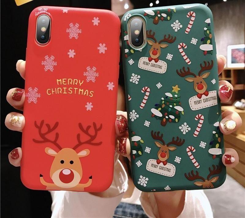 Christmas Cartoon Snoopy Pattern Galaxy iphone case