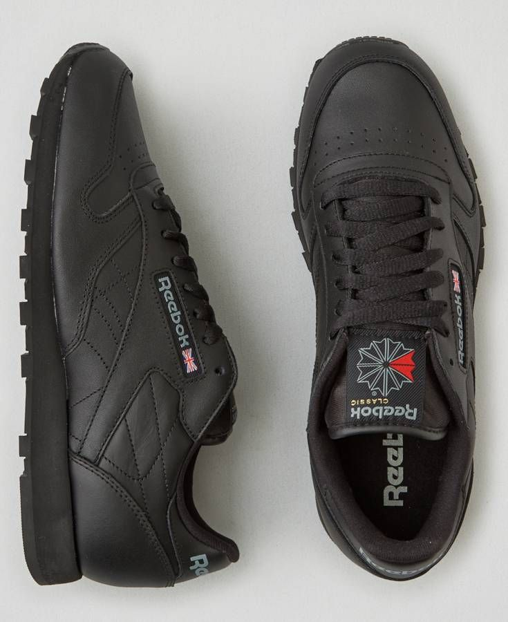 reebok classic leather mens black