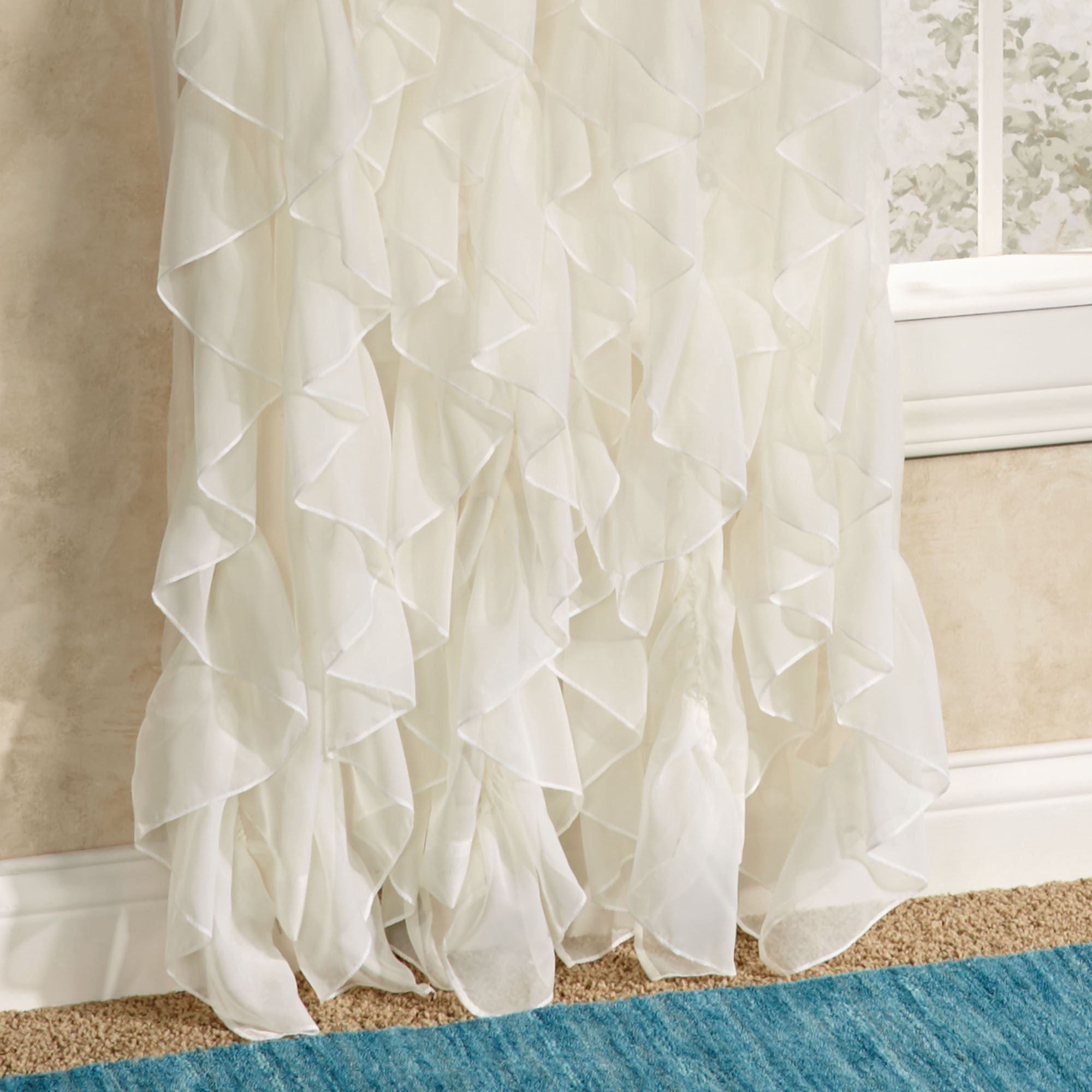 silk voile curtain white orange curtains sheer gradient sunkist panel set