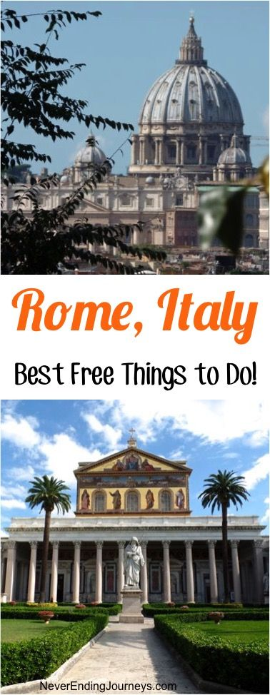 Rome Italy Best Free Things to Do! - BIG List of Fun Things you Can't Afford to Miss on your next visit to Rome! | NeverEndingJourneys.com