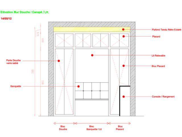 Un mini-appartement de 6 m2 plein de fraîcheur Studio