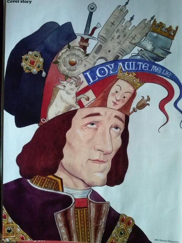 Cartoon of Richard III in BBC History magazine