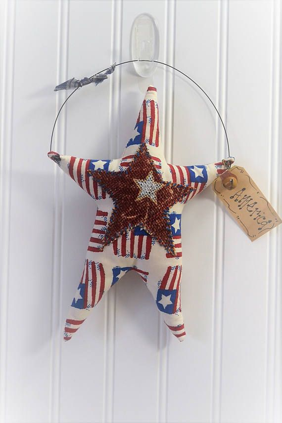 Stars and Strips hanging wall décor Red White and blue Star | Etsy ...