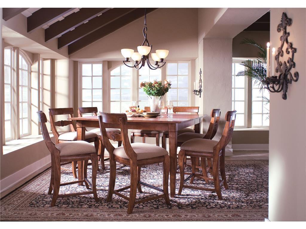 Kincaid Furniture Dining Room Tall Table 96 058 Dining Table Legs Birch Dining Table Dining Room Table Set