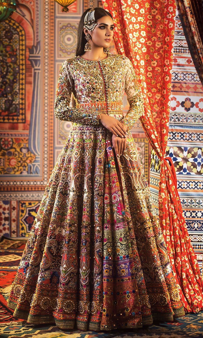 Buy pakistani bridal dresseselegant bridal mehndi lehenga