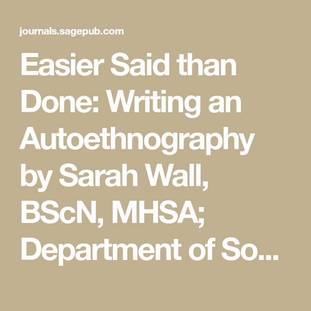 Pin By Patty Cueva On Dissertation In 2020 University Of Alberta Bscn How To Write An Autoethnography