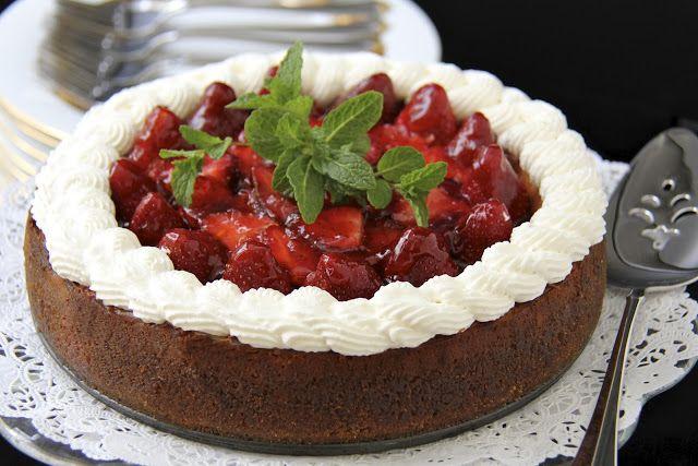 The Café Sucré Farine: Vanilla Bean Cheesecake w/ Citrus-Ginger Honey Glazed Strawberries
