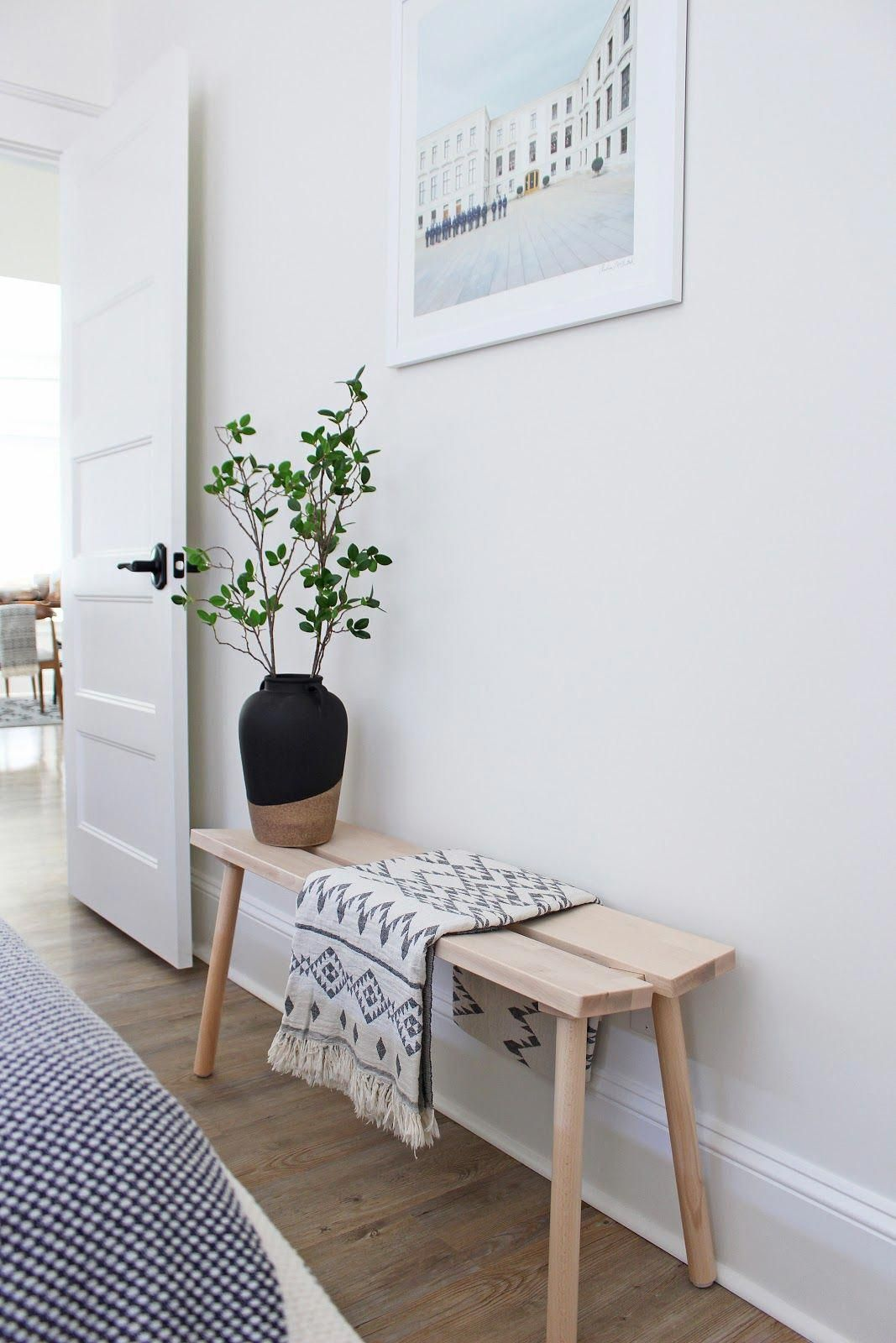 H M Home Half Dipped Stoneware Vase With Handles Turkish Cotton Throw Ikea Ypperlig Bench Scandi Scandinavian Style Home Bedroom Furniture Design Home Decor
