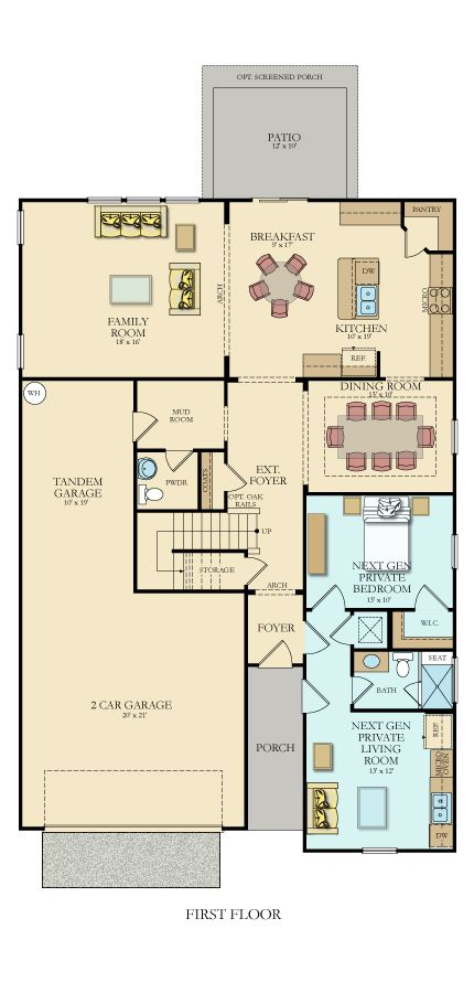 Next Gen Taylor New Home Plan In Lindera Preserve At