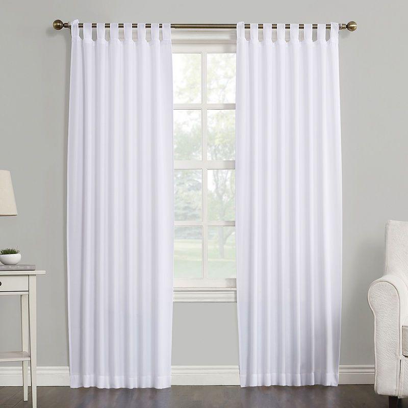 No 918 Jacob Semi Sheer Tap Top Curtain Panel Tab Top Curtain Panel Curtains Panel Curtains Tab Top Curtains