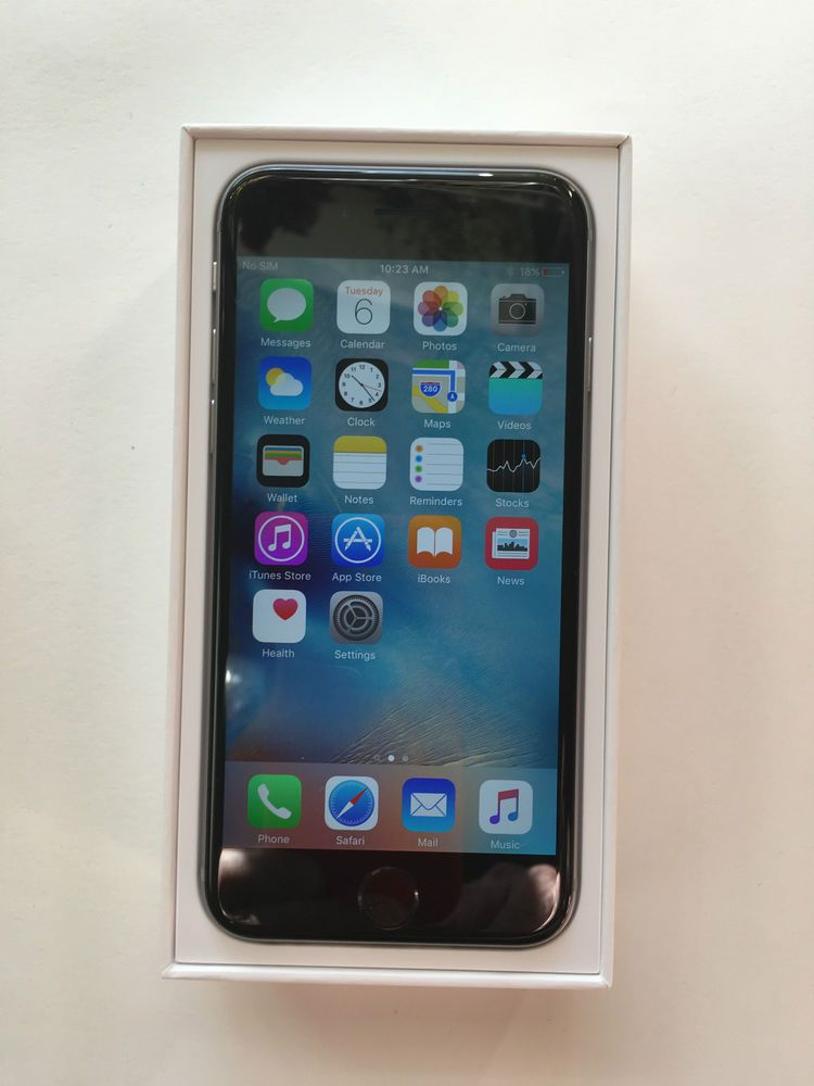 Apple Iphone 6 128gb Space Gray Unlocked Smartphone Leather Case Euc Apple Bar Iphone Apple Iphone Apple Iphone 6