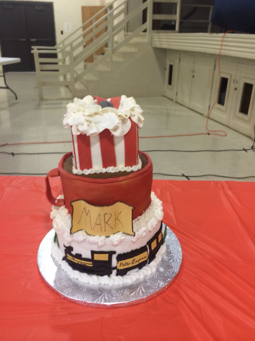 Super Polar Express Cake With Images Polar Express Birthday Cake Funny Birthday Cards Online Elaedamsfinfo