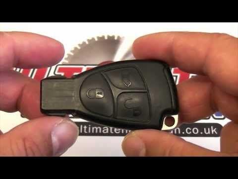 Mercedes key battery change youtube mercedes benz for Mercedes benz car key