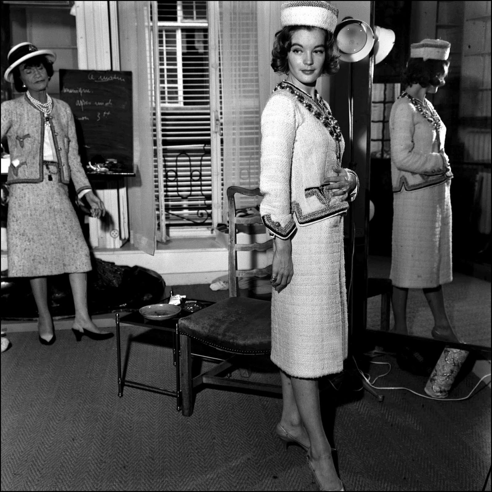 Arte Replay Romy Schneider Coco Chanel And Romy Schneider Fitting For Boccace 70 By Luchino