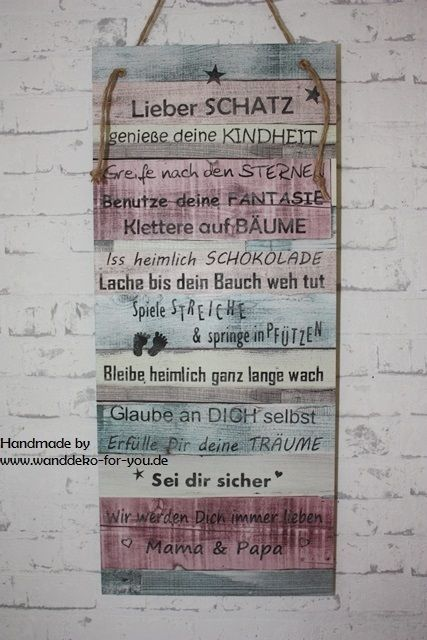 Beautiful Lieber Schatz Patchworkschild