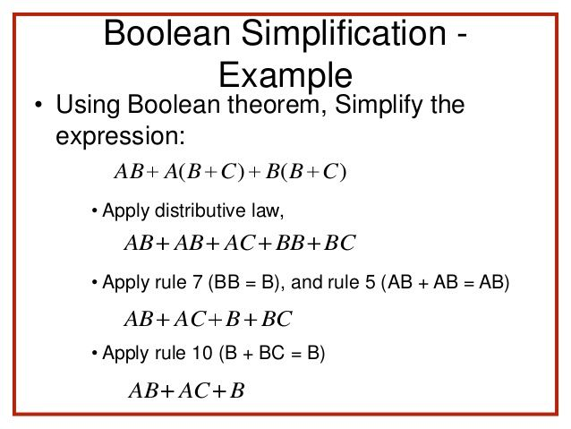 Image Result For Boolean Expression Simplification Examples How To Apply Theorems Expressions