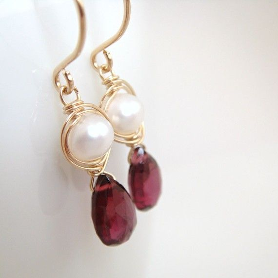 Hermoso Tono Oro Cluster perla Stud pendientes