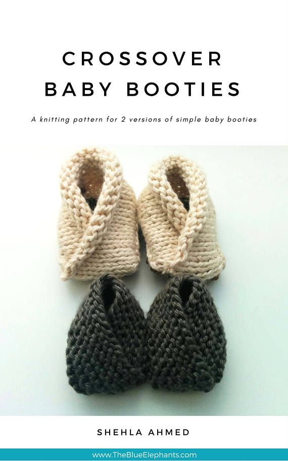 CROCHET PATTERN: Crossover Booties | knitted baby booties | baby boy ...