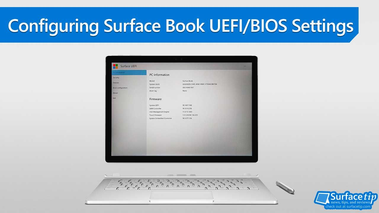 How to Configure Surface Book UEFI/BIOS Settings | Microsoft Surface