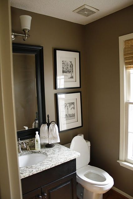 Small Bathroom Decorating Ideas Color love this look for our new half bathroom in the basement | home