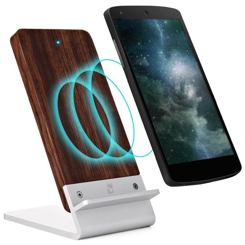 Wood Wireless Charger Stand for BlackBerry Priv STV100-1