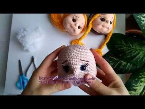 Amigurumi Yüz Şekillendirme-2 ( Amigurumi Face Shaping PART 2)- amigurumi teknikleri - YouTube #bonecas