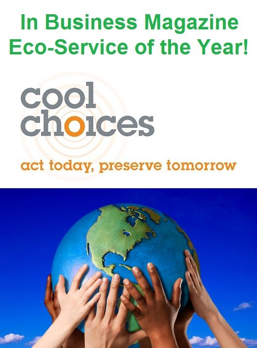 @Cool Choices Wins 2013 @In Business Magazine and Events Eco-Service of the Year Award! Read more about it at http://coolchoices.com/eco-service-of-the-year-winner/