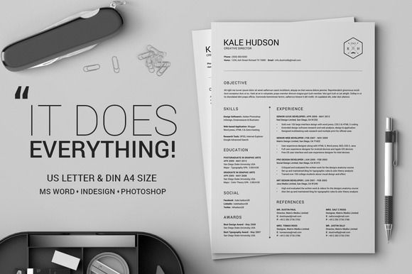 Clean Resume CV - Hudson by SNIPESCIENTIST on @creativework247