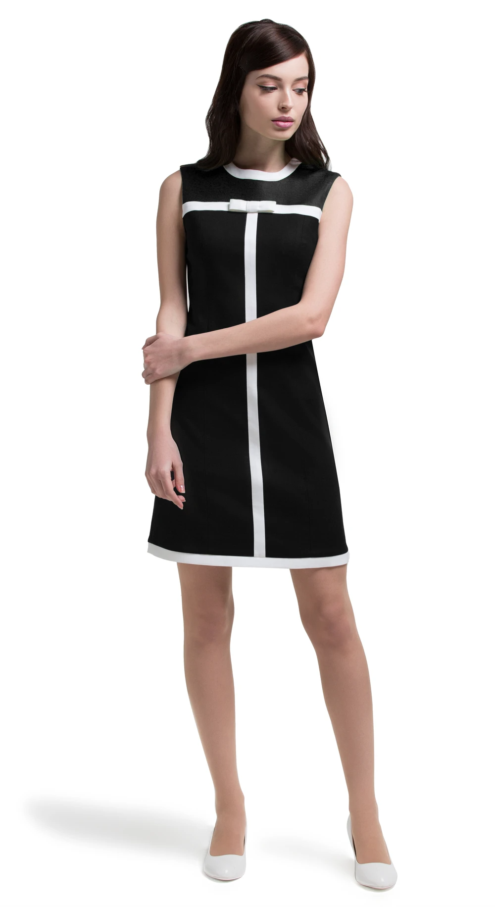 MARMALADE Mod 60s Style Dress with Black Panel -   60s style Dress