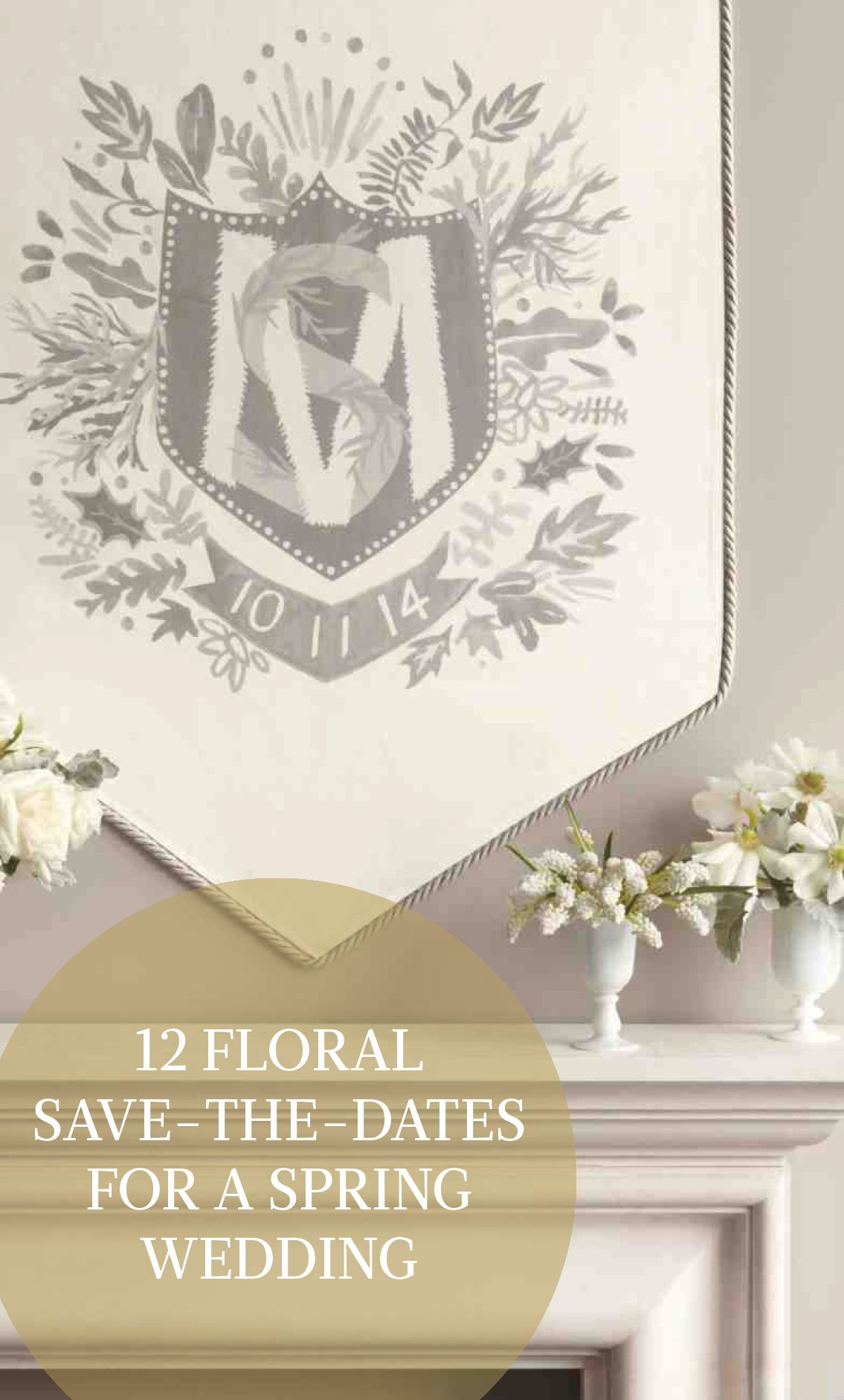 12 floral save the date ideas for a spring wedding stationery