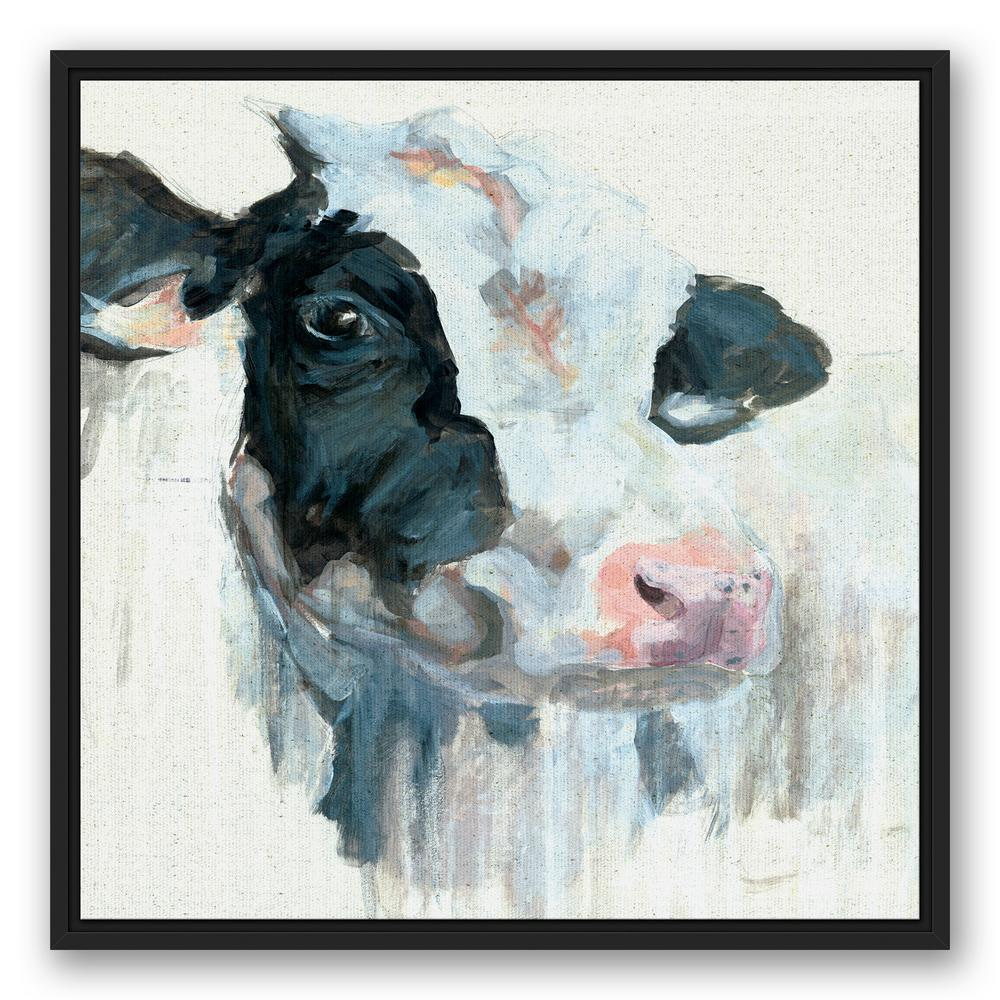 Designs Direct 24 In X 24 In Curious Painted Dairy Cow