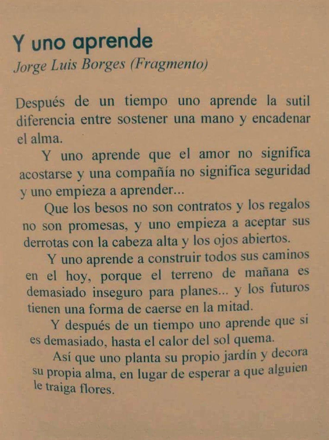 Pin De Becca Ceh En Pensamientos Pinterest Luis Borges Frases