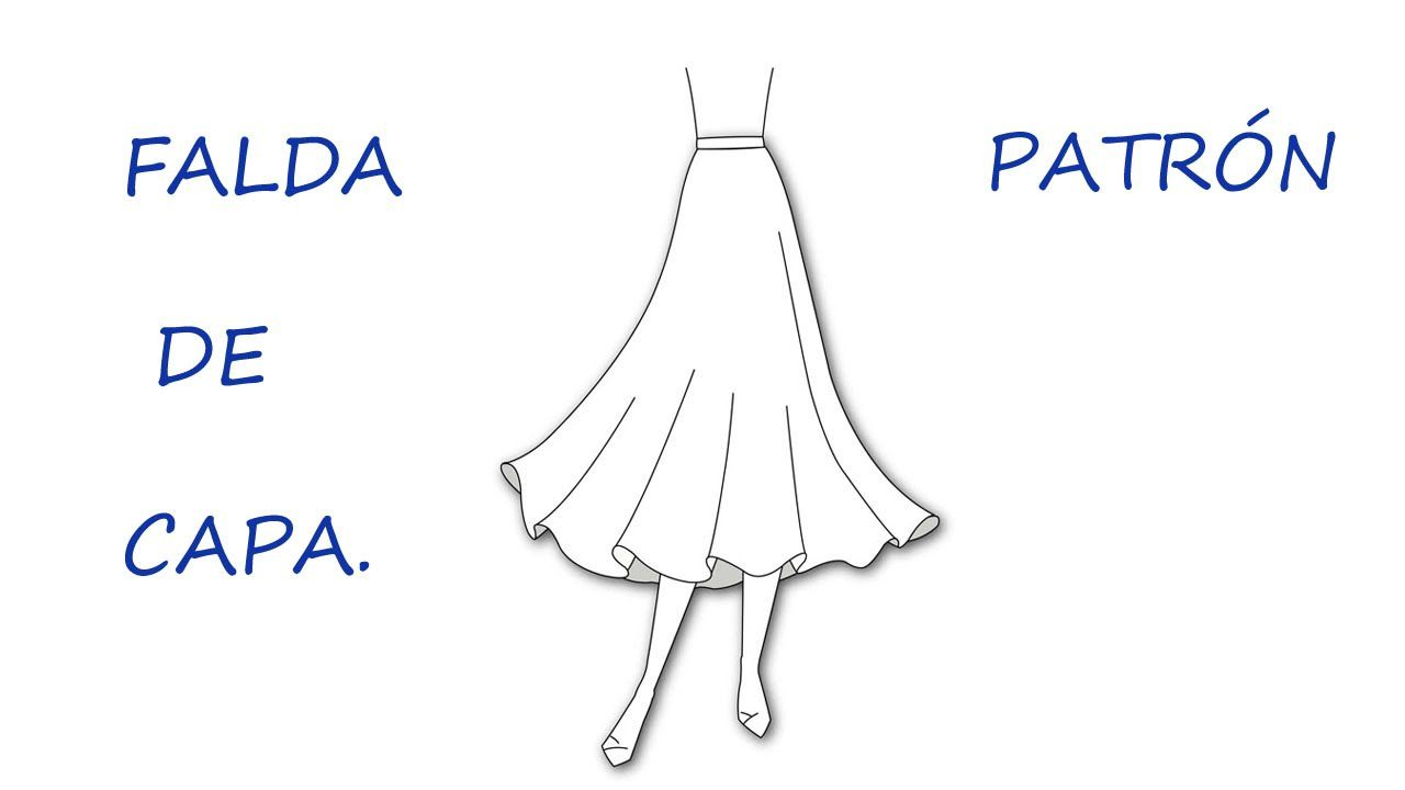 Como hacer un patrón de falda capa. Patrón falda plato. | Curso de ...
