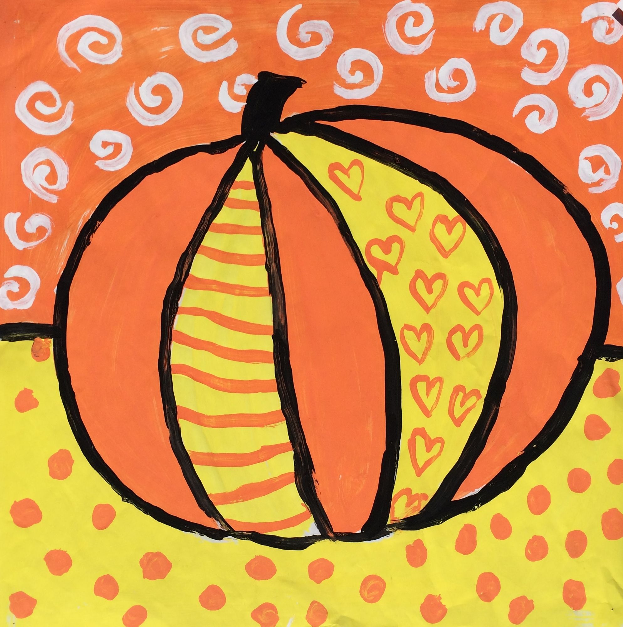 Romero Britto Pumpkins This Is My Class Demo Got The Idea From