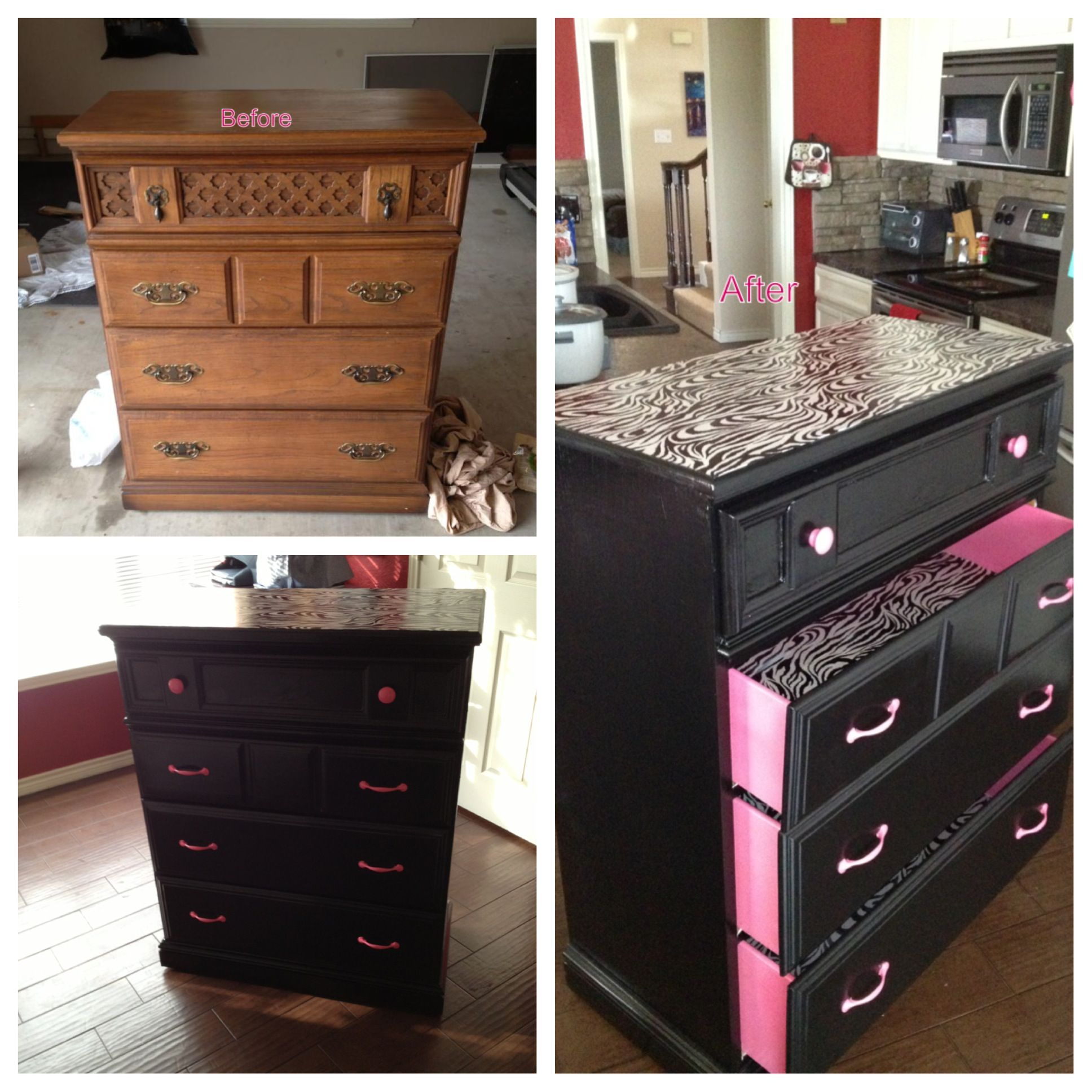 Muebles Restaurados Vintage Dresser Redo I Like Everything Except The Leopard
