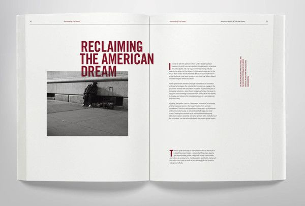American Identity & The New Dream by Christopher Norris, via Behance