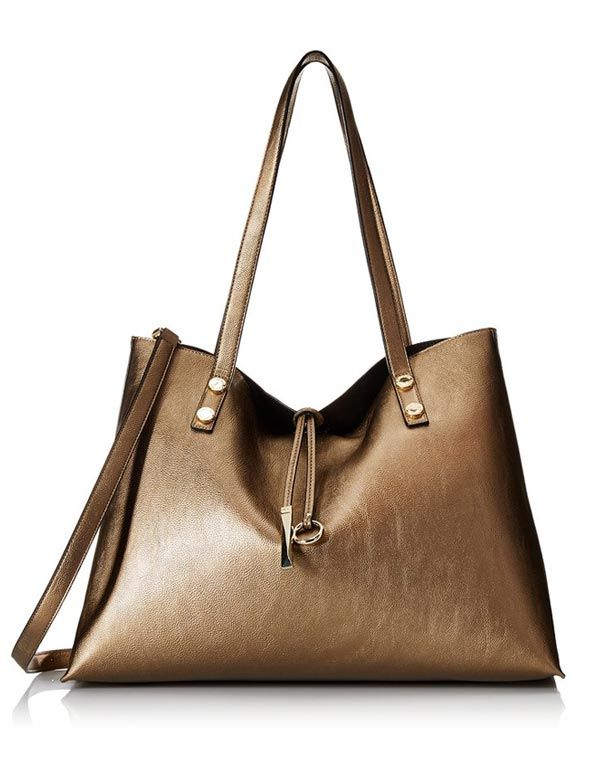 1e0d6d0a6ed Calvin Klein Reversible Metallic Gold   Black Tote Bag