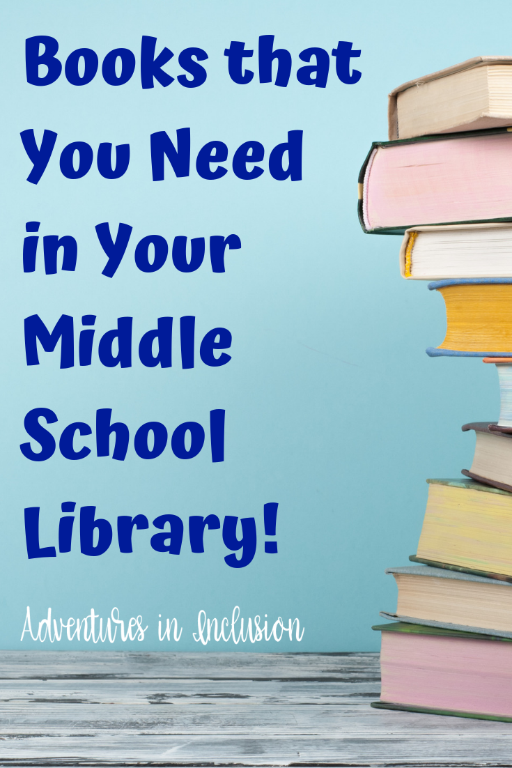 Books for Your Middle School Library Books for your Middle School Library