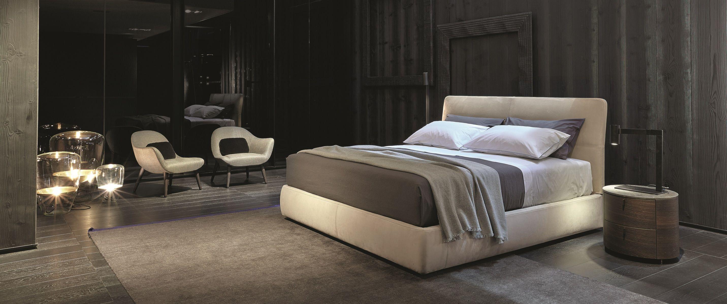 Poliform Varenna Laze Bed Onda Night Tables Mad Chair