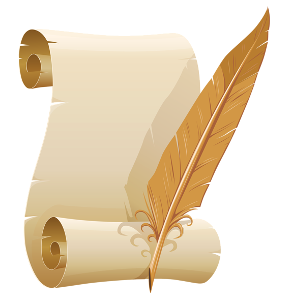 quill and parchment clipart - photo #7