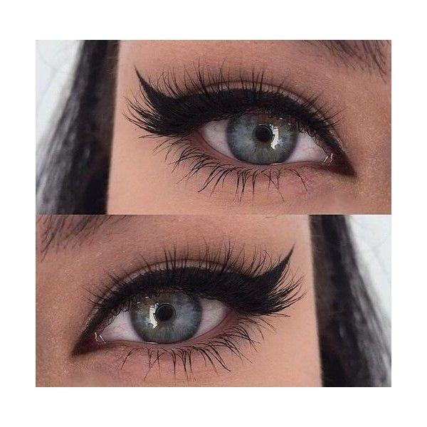 winged eyeliner | beauty | Pinterest | Winged Eyeliner, Eyeliner and... ❤ liked on Polyvore featuring beauty products, makeup, eye makeup, eyeliner and eyes