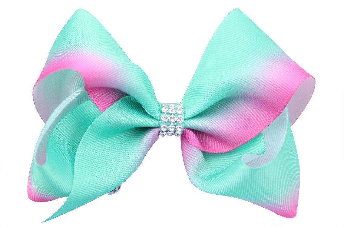 Quality 12cm Grosgrain Ribbon Large Hair Bows With Clip For Baby Girls Toddler