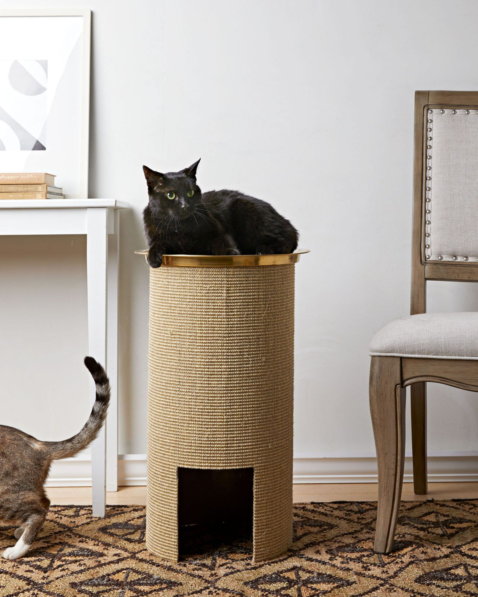 11 Cat Crafts That Are Perfect For Your Feline Friend In 2020 Cat Scratching Post Cat Crafts Cat Scratching