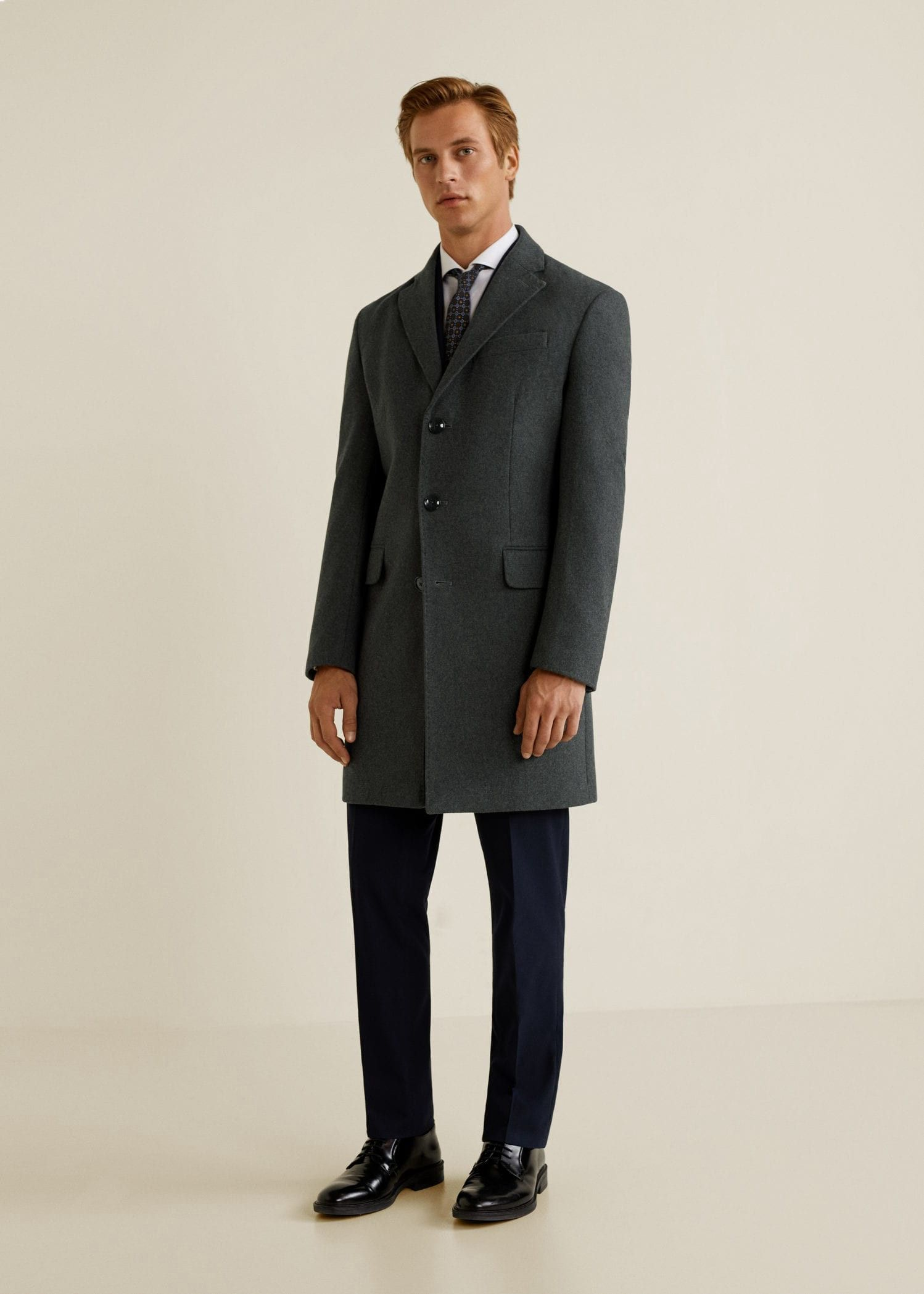 7c0ea0c6f30b3 Classic wool Tailored coat by Mango   Products   Pinterest ...