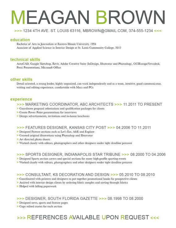 Using color on resumes Work Pinterest - resumes with color