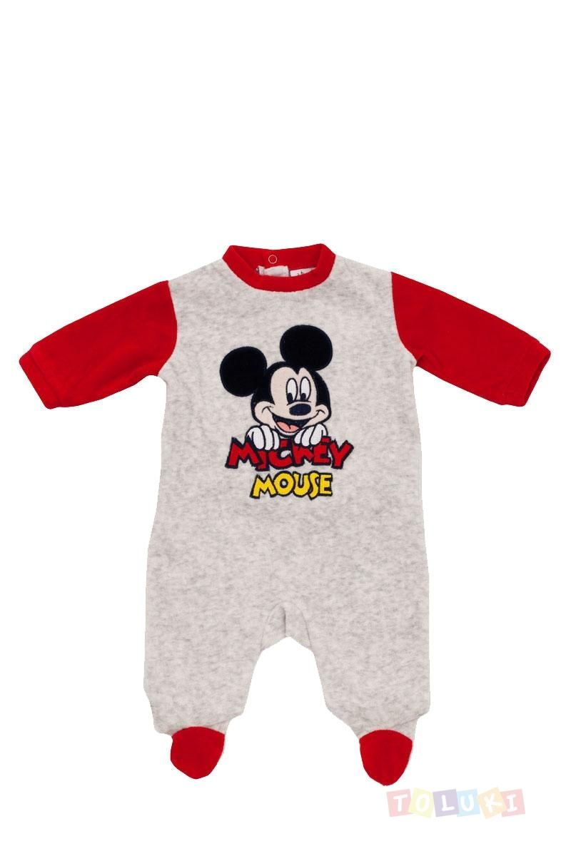 Pyjama Bebe Garcon Mickey Mouse Rouge Et Gris Mickey Minnie