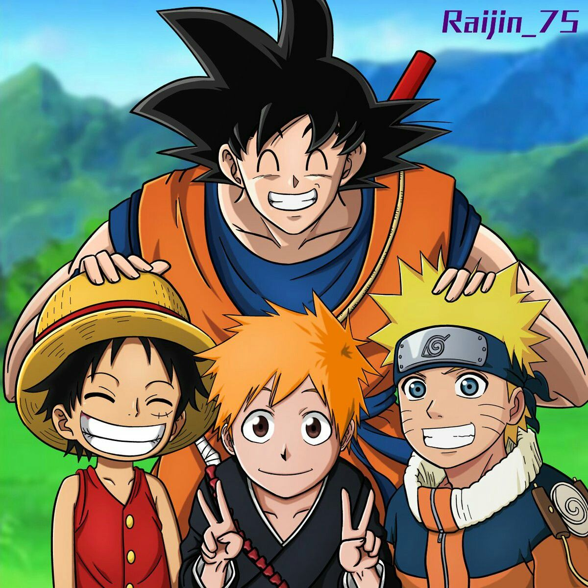 Peleas callejeras de naruto es lo que te espera en los 10 niveles que componen este juego. Goku with Luffy, Ichigo and Naruto | Anime, Personagens de ...