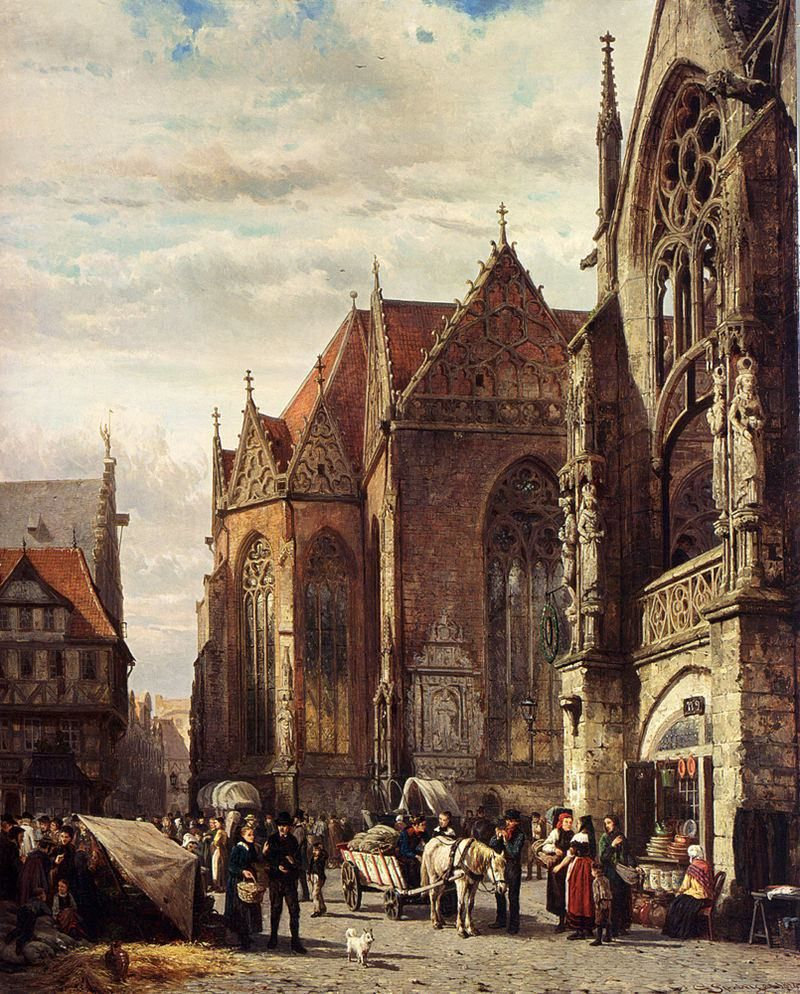 25 dreamlike paintings of 19thcentury dutch towns and