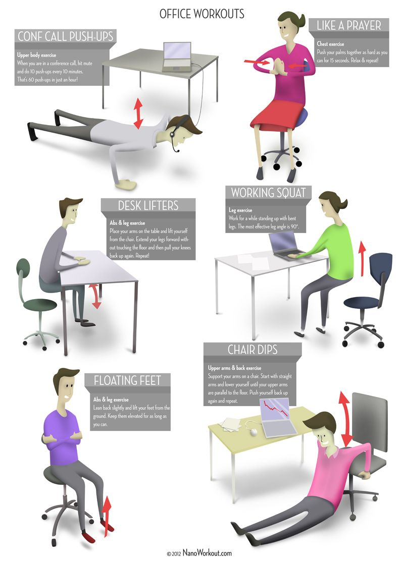 For All The Busy Bees In Front Of Desk Here Is Office Workout