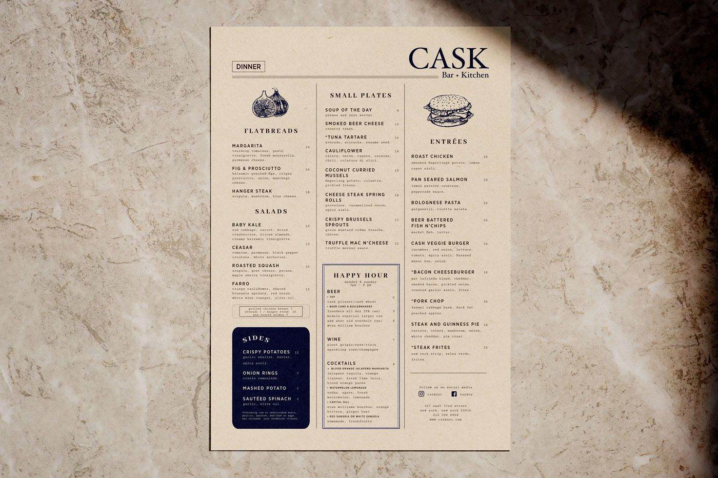 Cask Bar Nyc On Behance Nyc Bars Cask Bar